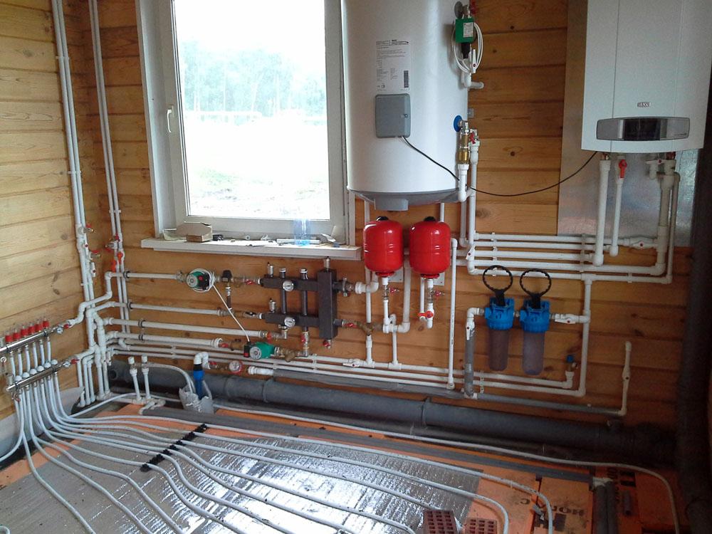 теплый пол газовый котел для дома