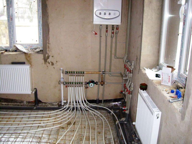 Водяной тёплый пол в доме от газового котла
