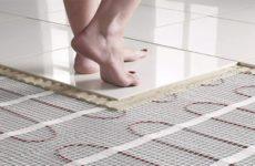 Как уложить электрический тёплый пол под плитку?